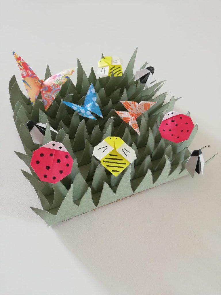 origami bambini prato